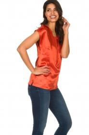Dante 6 |  Satin top Yila | orange  | Picture 4