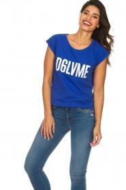 Dante 6 | T-shirt Love me | blauw  | Afbeelding 2