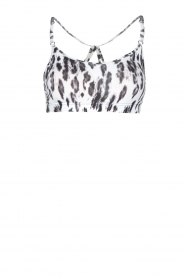 Casall |  Sports bra Fuzzy | Animal print  | Picture 1