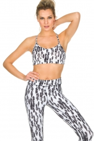 Casall |  Sports bra Fuzzy | Animal print  | Picture 2