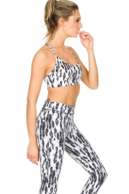 Casall |  Sports bra Fuzzy | Animal print  | Picture 4