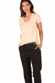 By Malene Birger | T-shirt Felicitas | nude  | Afbeelding 2