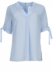 Dante 6 |  Top with bow sleeves Lana | blue  | Picture 1