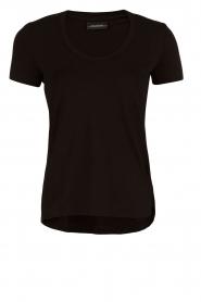 By Malene Birger | T-shirt Felicitas | zwart  | Afbeelding 1
