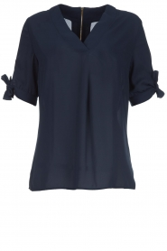 Dante 6 |  Top with bow sleeves Lana | dark blue