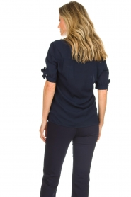 Dante 6 |  Top with bow sleeves Lana | dark blue  | Picture 6
