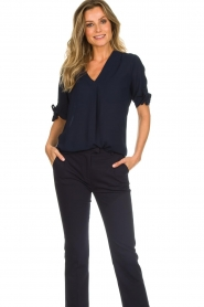 Dante 6 |  Top with bow sleeves Lana | dark blue  | Picture 2