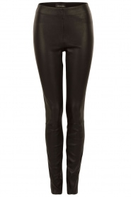 By Malene Birger | Leren legging Elanasoo | zwart  | Afbeelding 1