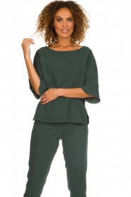 Dante 6 |  Top with trumpet sleeves Melia | green  | Picture 2