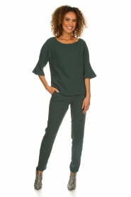 Dante 6 |  Top with trumpet sleeves Melia | green  | Picture 3