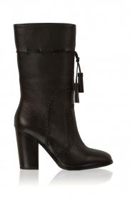 Lola Cruz | Leren laarzen Bombeada | zwart  | Afbeelding 1