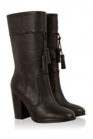 Lola Cruz | Leren laarzen Bombeada | zwart  | Afbeelding 3