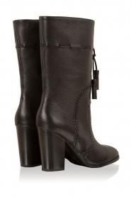 Lola Cruz | Leren laarzen Bombeada | zwart  | Afbeelding 4