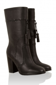 Leather boots Bombeada | black