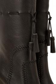 Lola Cruz | Leren laarzen Bombeada | zwart  | Afbeelding 6