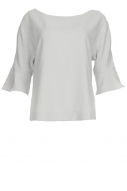 Dante 6 |  Top with trumpet sleeves Melia | light grey  | Picture 1