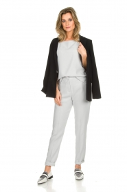 Dante 6 |  Top with trumpet sleeves Melia | light grey  | Picture 3