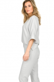 Dante 6 |  Top with trumpet sleeves Melia | light grey  | Picture 5