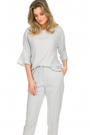 Dante 6 |  Top with trumpet sleeves Melia | light grey  | Picture 4