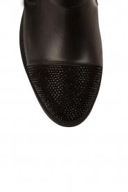 Leather biker boots Brillo | black