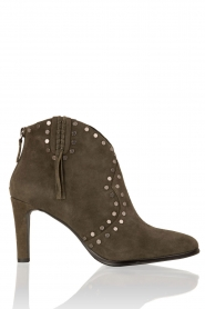 Leather ankle boots Verde | green