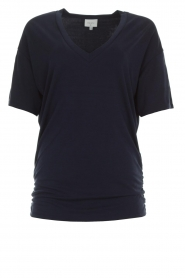 Dante 6 |  Long top with pleats Nuri | navy  | Picture 1