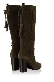 Lola Cruz | Suede laarzen Serraje | groen  | Afbeelding 4