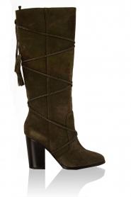 Lola Cruz | Suede laarzen Serraje | groen  | Afbeelding 1