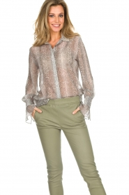 Dante 6 |  Blouse with snake print Mamba | animal print  | Picture 2