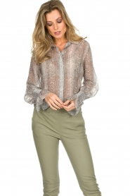 Dante 6 |  Blouse with snake print Mamba | animal print  | Picture 4