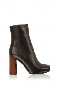 Lola Cruz | Leren laarzen Madera | zwart  | Afbeelding 1