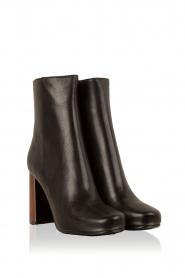 Lola Cruz | Leren laarzen Madera | zwart  | Afbeelding 3
