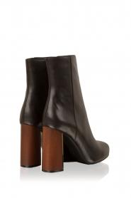 Lola Cruz | Leren laarzen Madera | zwart  | Afbeelding 4