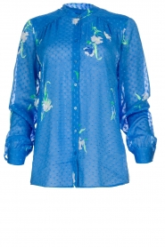 Dante 6 |  Blouse with floral print Bia | blue  | Picture 1