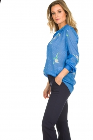 Dante 6 |  Blouse with floral print Bia | blue  | Picture 4