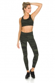 Casall | Sportlegging Blush Wave | Groen  | Afbeelding 3