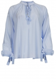 Dante 6 |  Wide blouse with tassels Beadu | light blue  | Picture 1