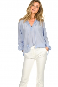 Dante 6 |  Wide blouse with tassels Beadu | light blue  | Picture 4
