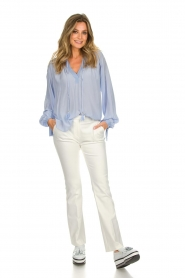 Dante 6 |  Wide blouse with tassels Beadu | light blue  | Picture 3