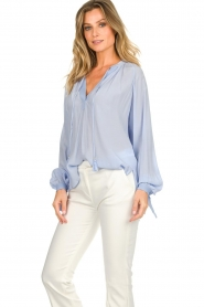 Dante 6 |  Wide blouse with tassels Beadu | light blue  | Picture 5