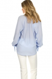 Dante 6 |  Wide blouse with tassels Beadu | light blue  | Picture 6