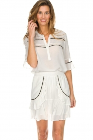 Dante 6 |  Top with embroidered details Byram | white  | Picture 2
