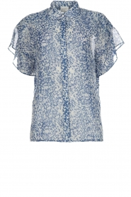 Dante 6 |  Printed blouse Arabella | blue  | Picture 1