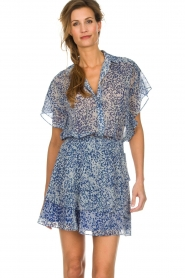 Dante 6 |  Printed blouse Arabella | blue  | Picture 2