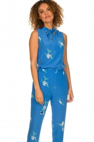 Dante 6 |  Sleeveless floral top Solene | blue  | Picture 2
