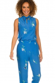 Dante 6 |  Sleeveless floral top Solene | blue  | Picture 4