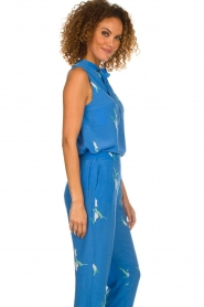 Dante 6 |  Sleeveless floral top Solene | blue  | Picture 5