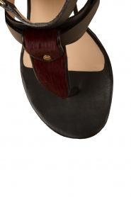 Leather sandals Devonne | black