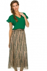 Dante 6 |  Top with ruffles Luxa | green  | Picture 4