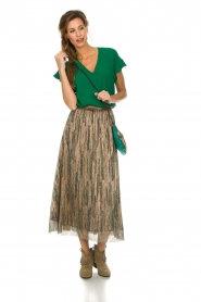 Dante 6 |  Top with ruffles Luxa | green  | Picture 3